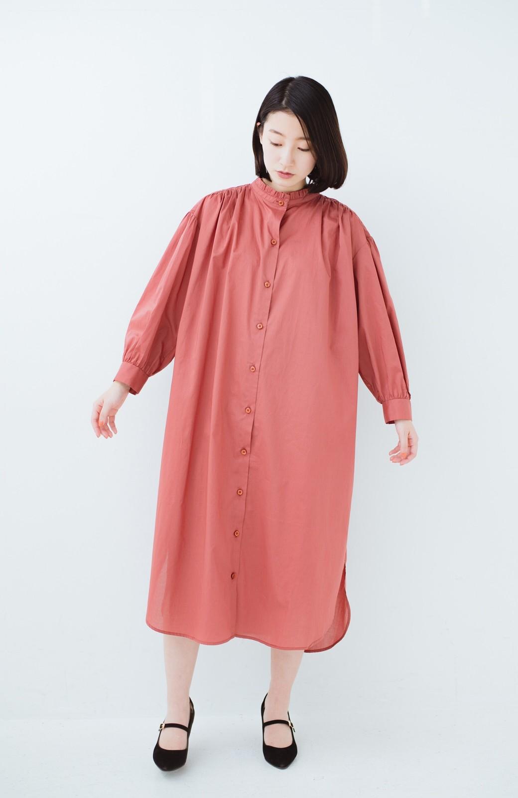 haco! 羽織りにもなって着回しのきくサッシュベルト付きシャツワンピース <ピンク>の商品写真9