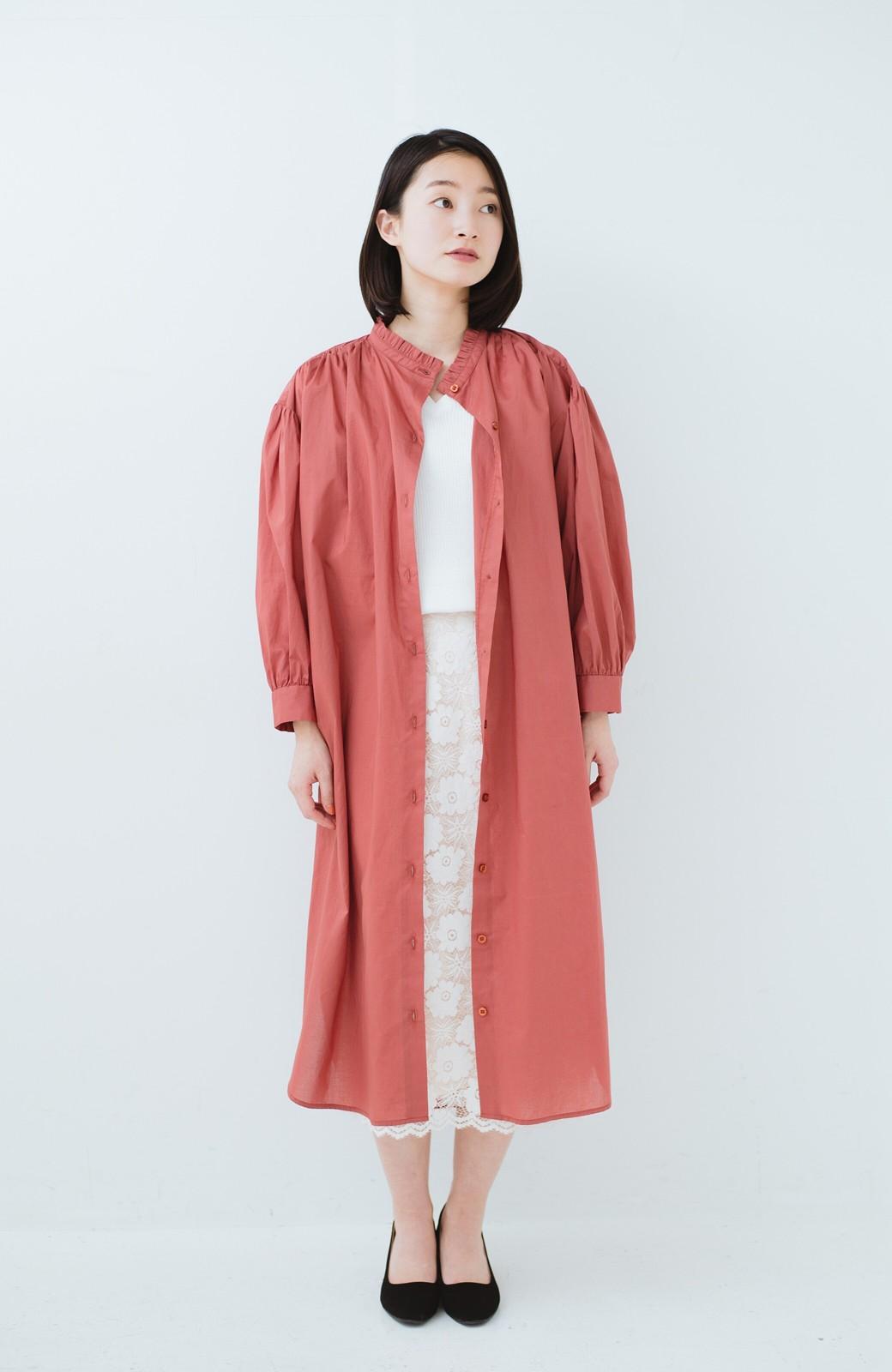 haco! 羽織りにもなって着回しのきくサッシュベルト付きシャツワンピース <ピンク>の商品写真10