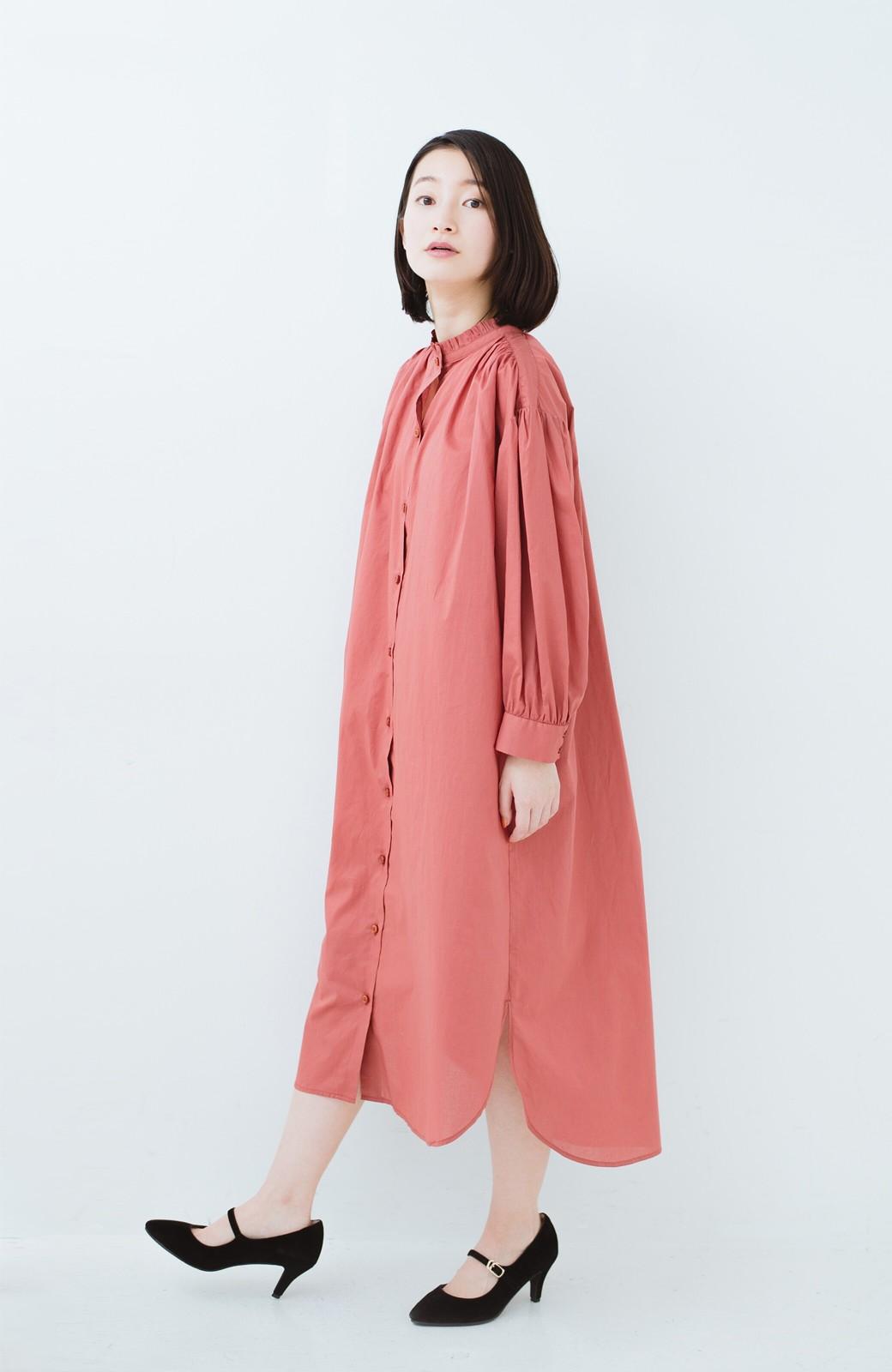 haco! 羽織りにもなって着回しのきくサッシュベルト付きシャツワンピース <ピンク>の商品写真13