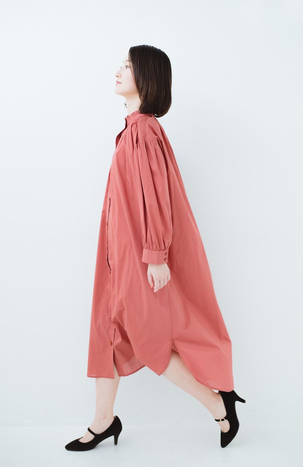 haco! 羽織りにもなって着回しのきくサッシュベルト付きシャツワンピース <ピンク>の商品写真14