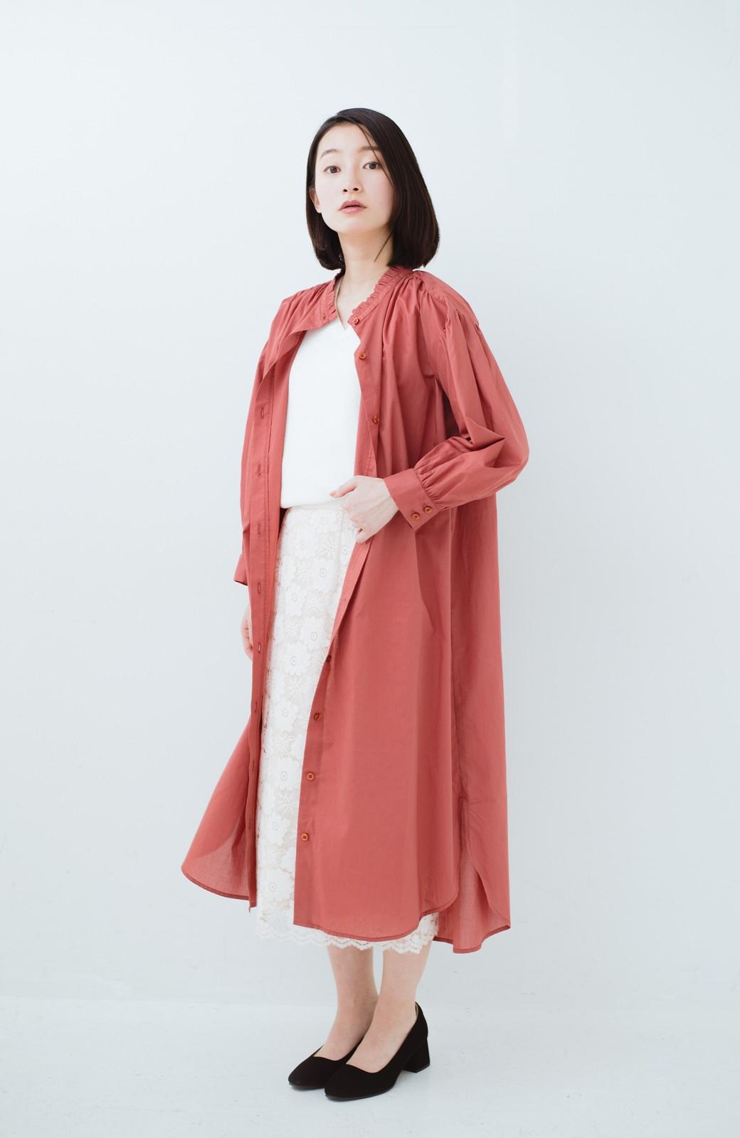 haco! 羽織りにもなって着回しのきくサッシュベルト付きシャツワンピース <ピンク>の商品写真16
