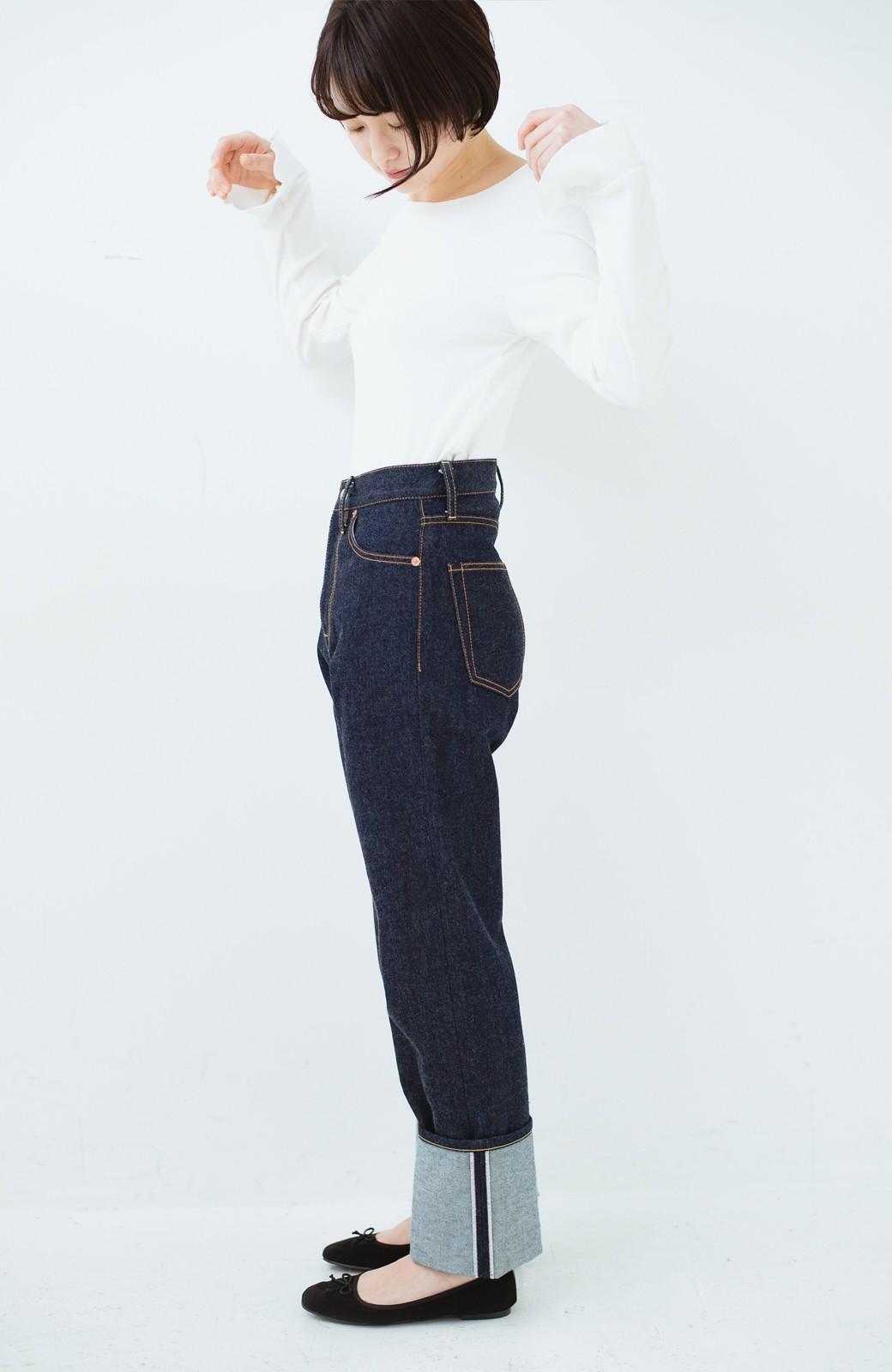 haco! MADE IN JAPAN 匠のハイウエストフェミニンデニム <インディゴブルー>の商品写真20