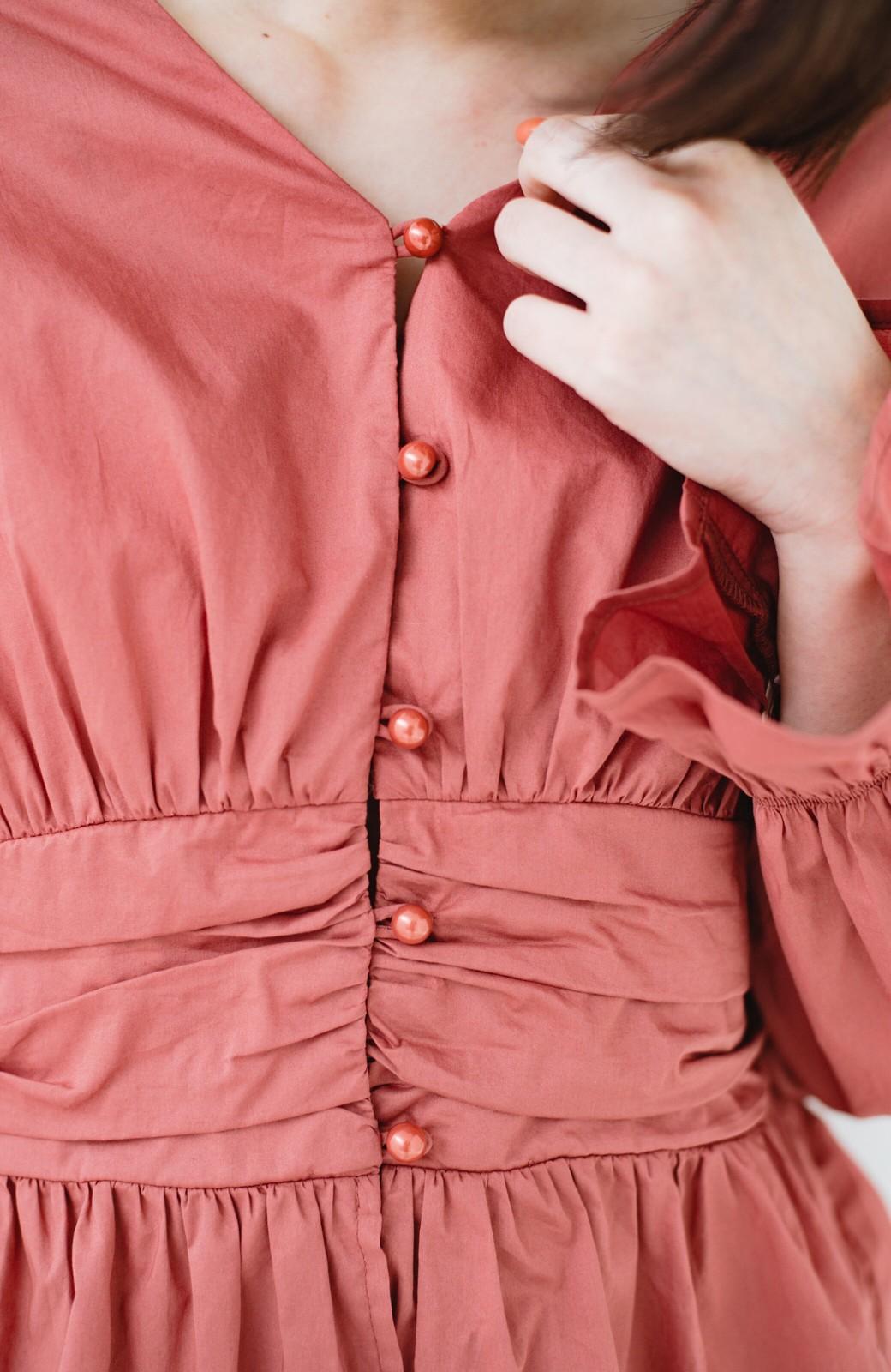 haco! 可愛いより大人っぽいと言われたい日のウエストシャーリングブラウス <ピンク>の商品写真4
