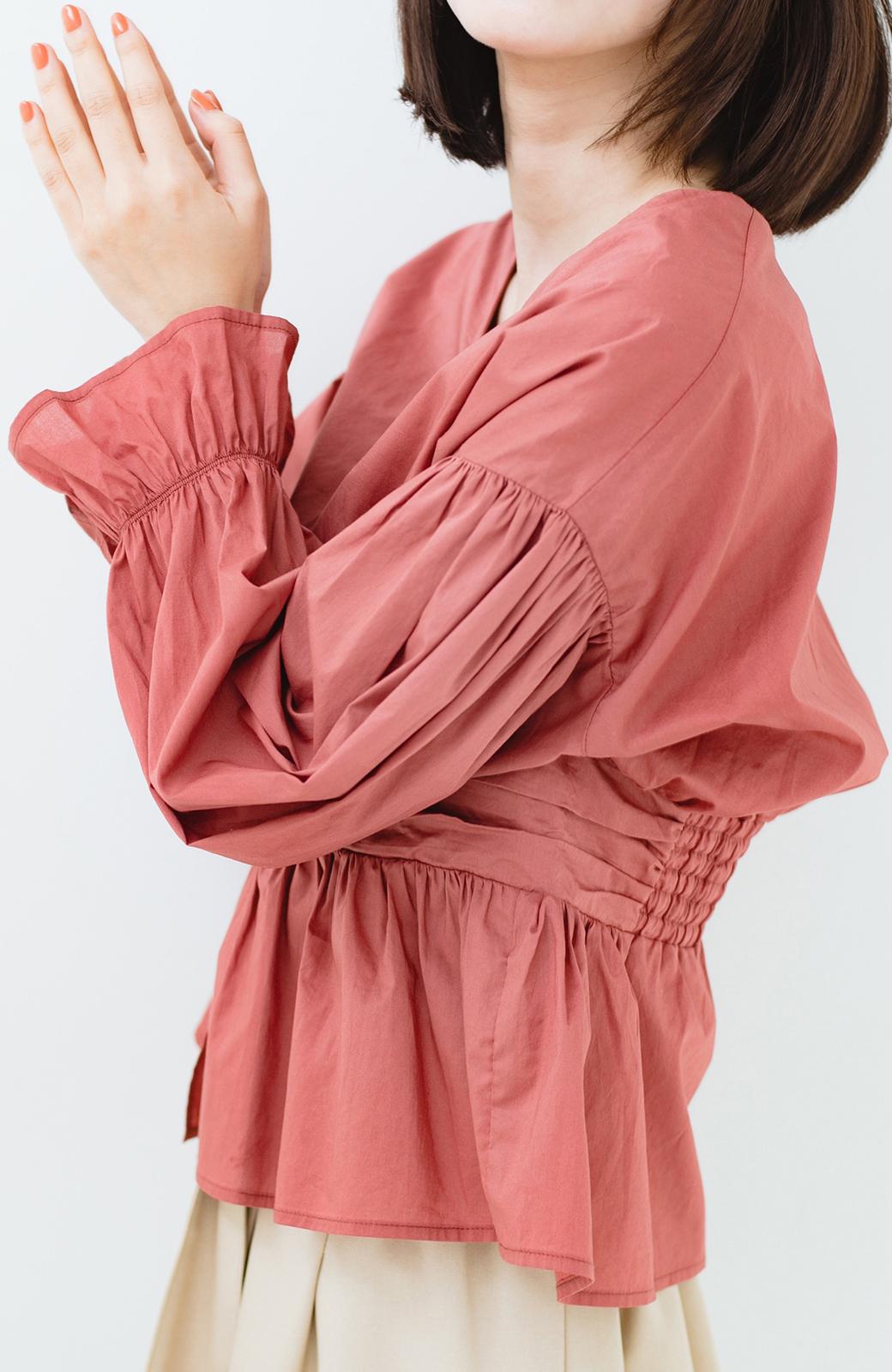 haco! 可愛いより大人っぽいと言われたい日のウエストシャーリングブラウス <ピンク>の商品写真5