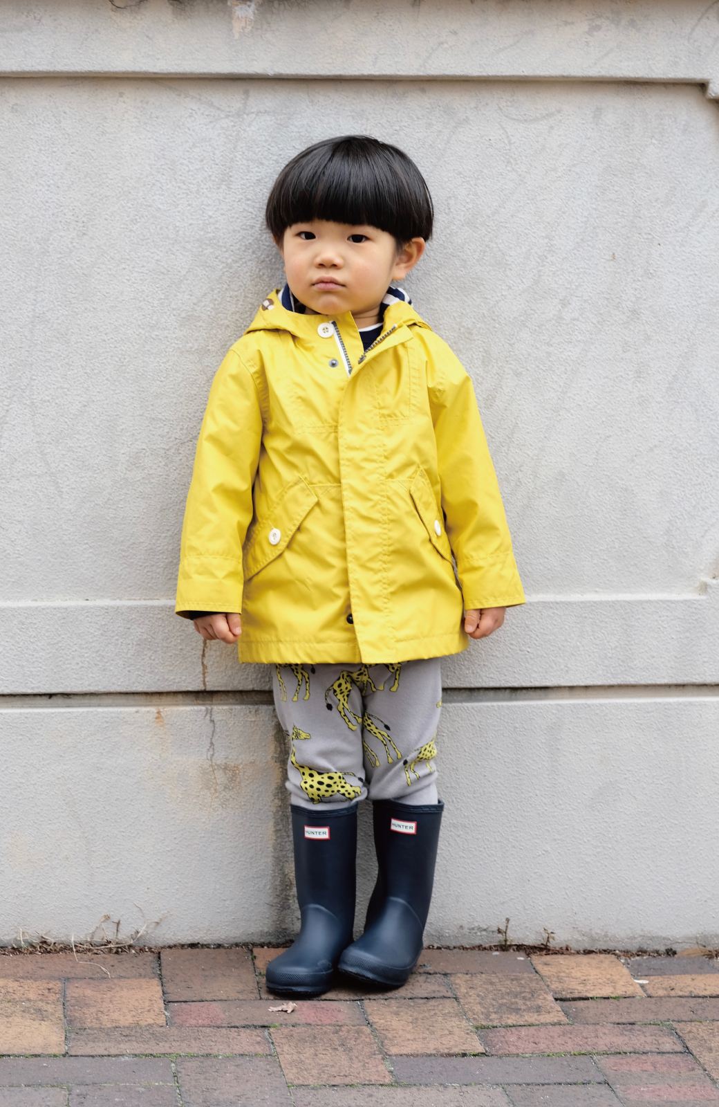 haco! HUNTER KIDS ファーストクラシック <ネイビー>の商品写真3