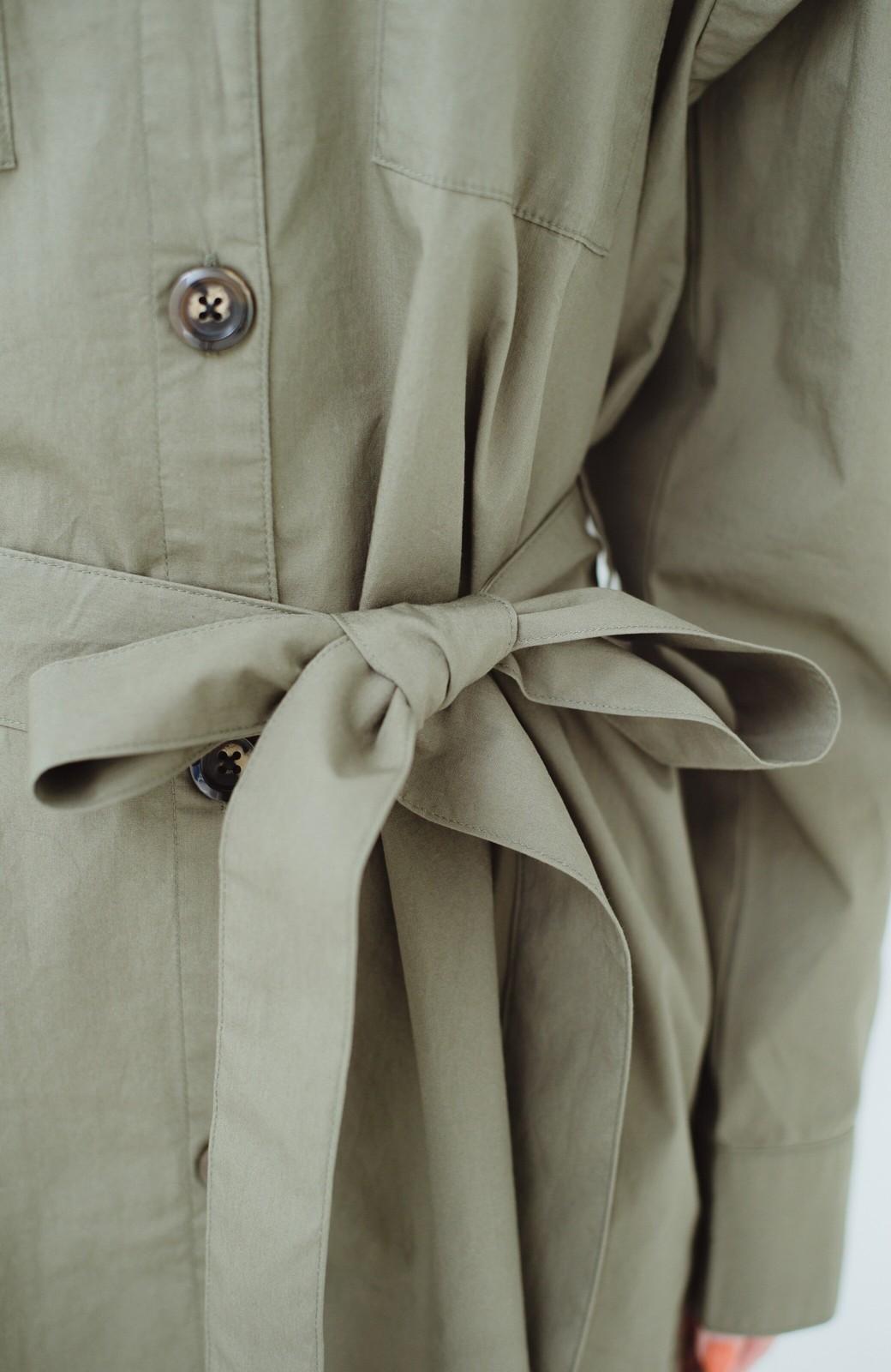 haco! さっと羽織って甘さ対策 ミリタリーロングアウター <カーキ>の商品写真6