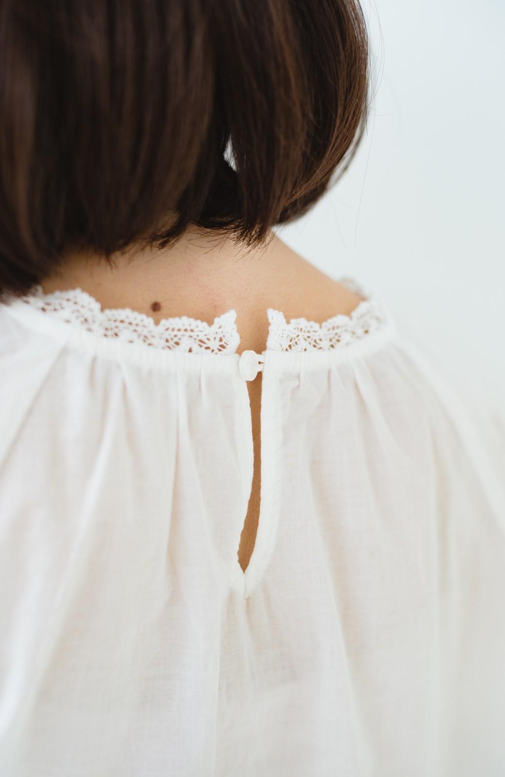 haco! 女の子がキュンとする コットンレースブラウス <ホワイト>の商品写真4