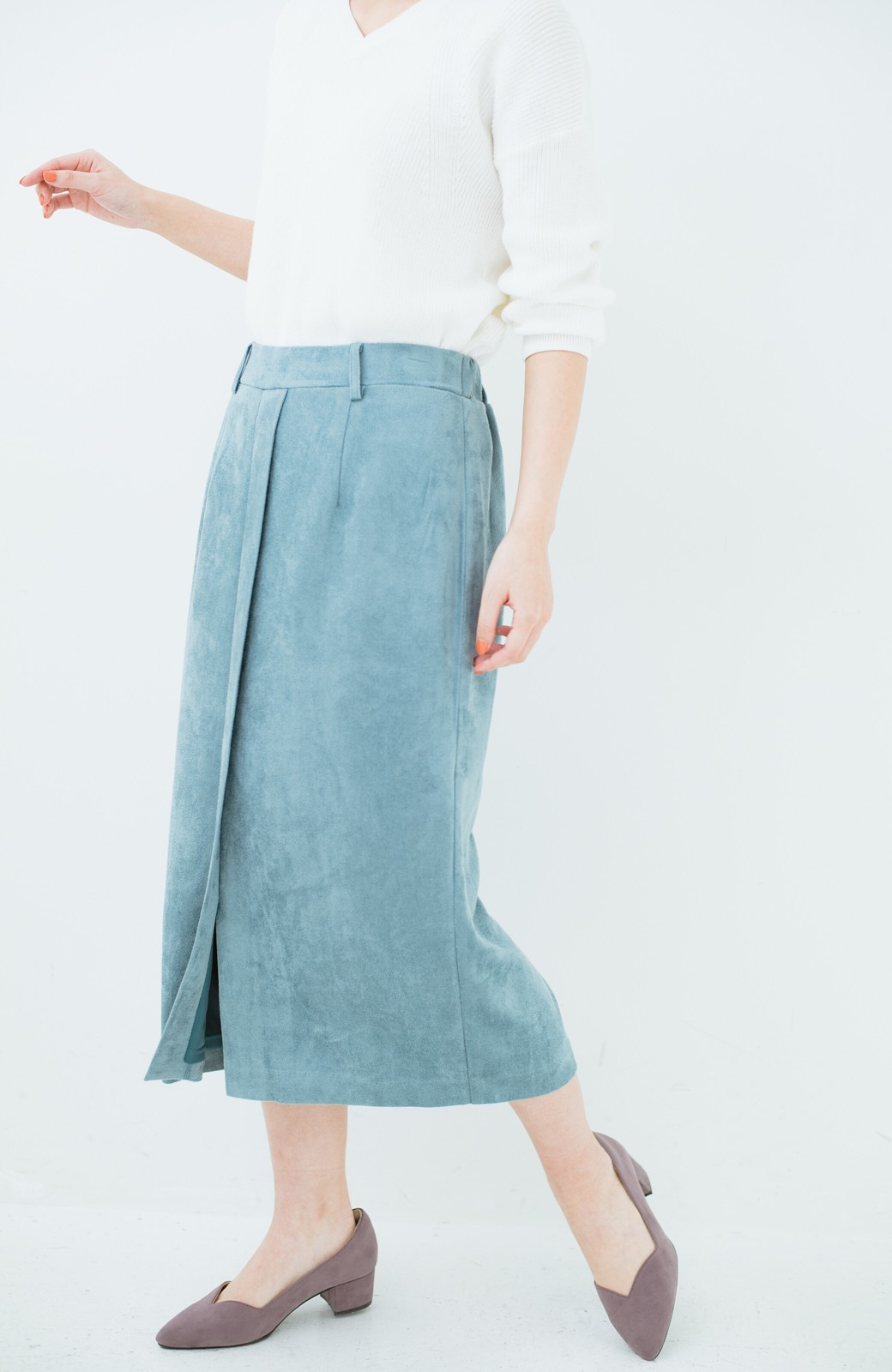 haco! 大人が安心して着られるタイトスカート by que made me <グレイッシュブルー>の商品写真3