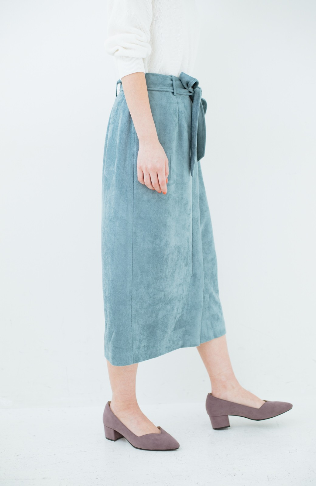 haco! 大人が安心して着られるタイトスカート by que made me <グレイッシュブルー>の商品写真4