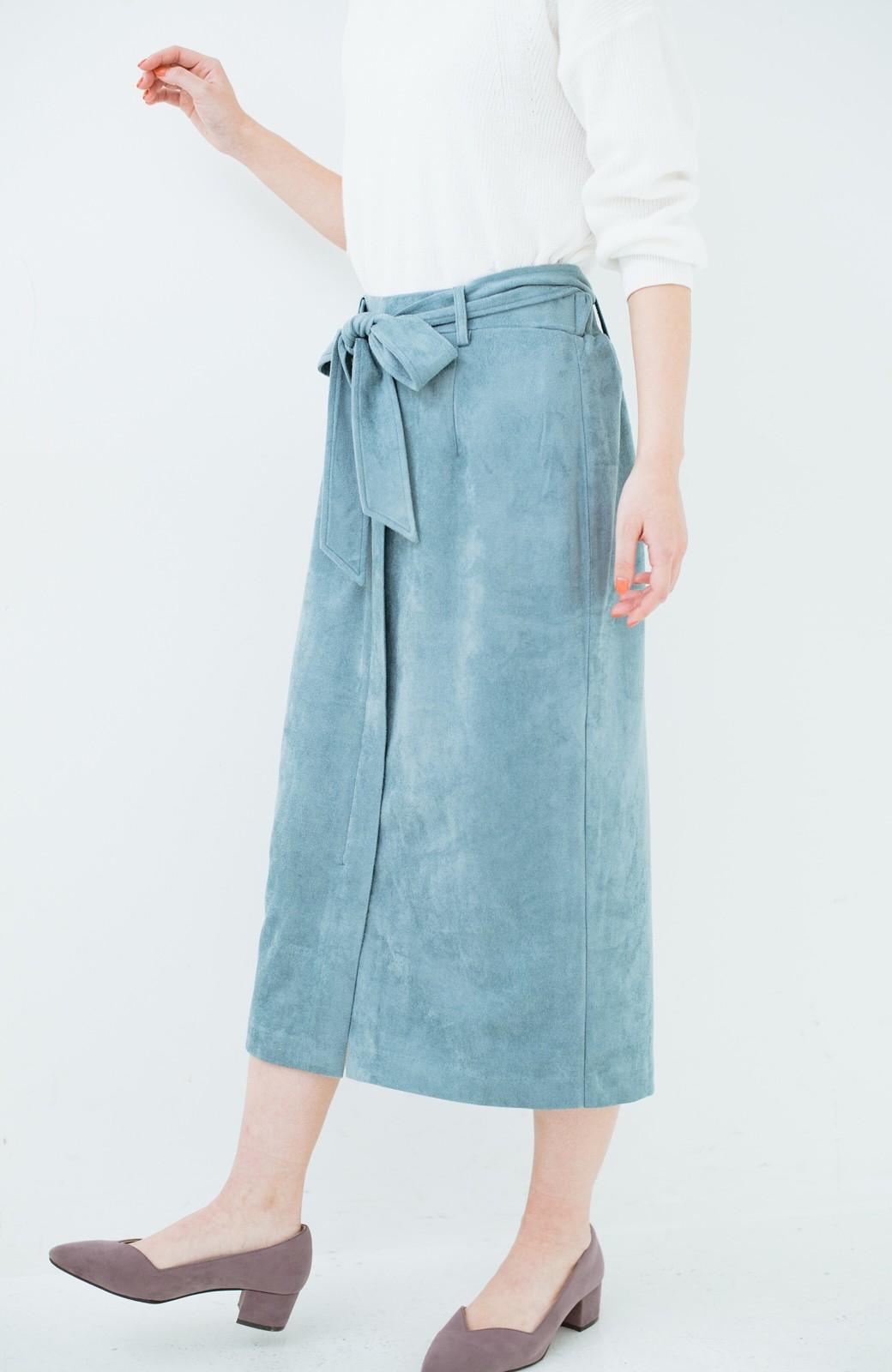 haco! 大人が安心して着られるタイトスカート by que made me <グレイッシュブルー>の商品写真5