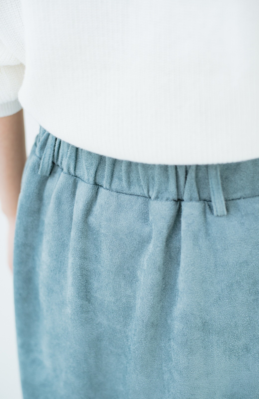 haco! 大人が安心して着られるタイトスカート by que made me <グレイッシュブルー>の商品写真9