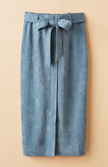 haco! 大人が安心して着られるタイトスカート by que made me <グレイッシュブルー>の商品写真