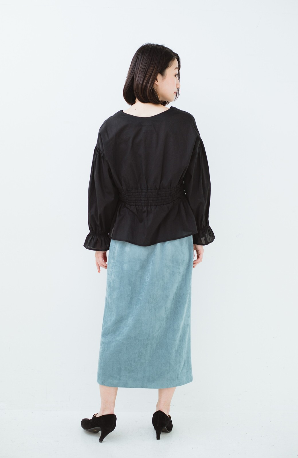 haco! 大人が安心して着られるタイトスカート by que made me <グレイッシュブルー>の商品写真17