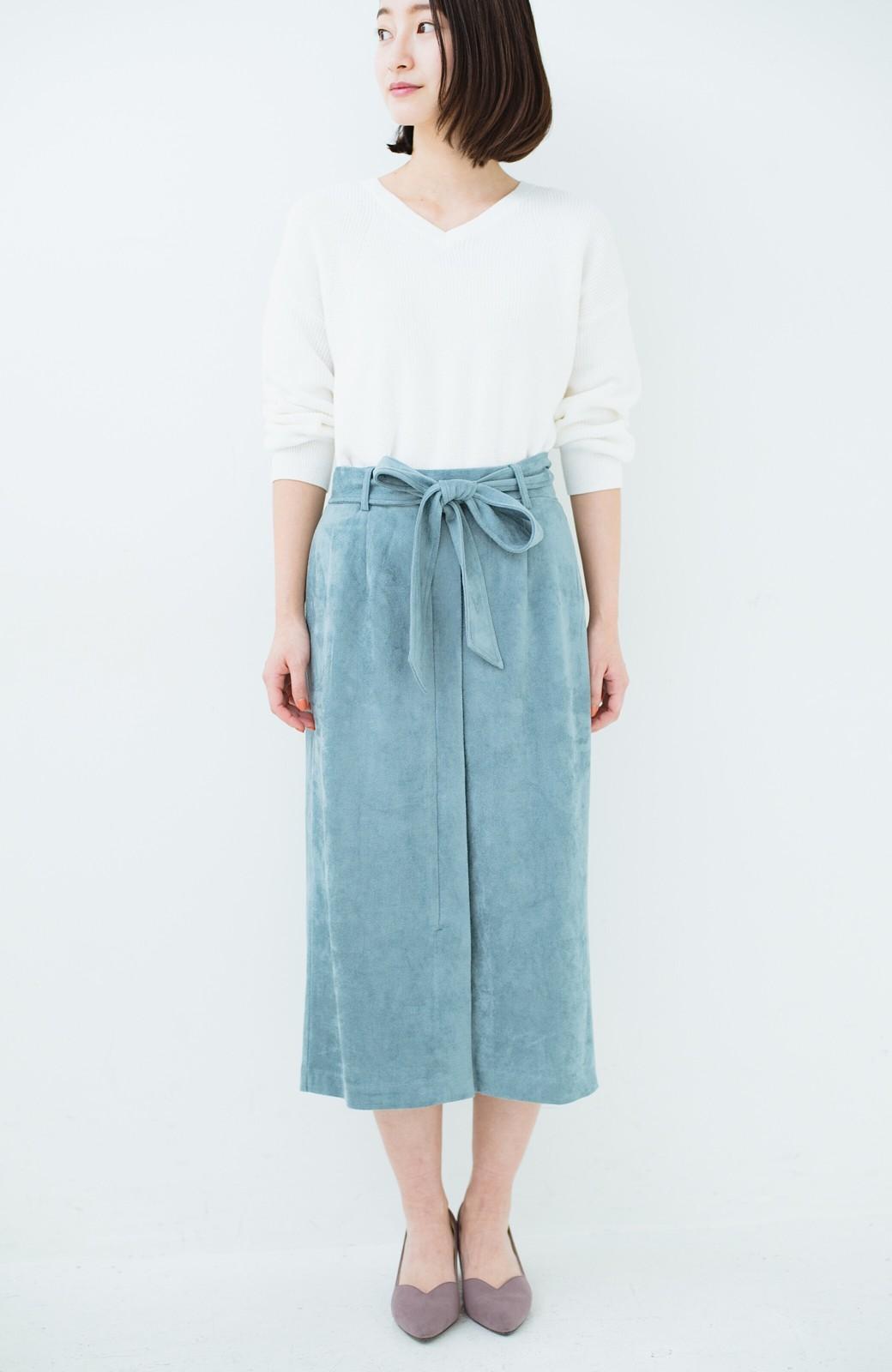 haco! 大人が安心して着られるタイトスカート by que made me <グレイッシュブルー>の商品写真18