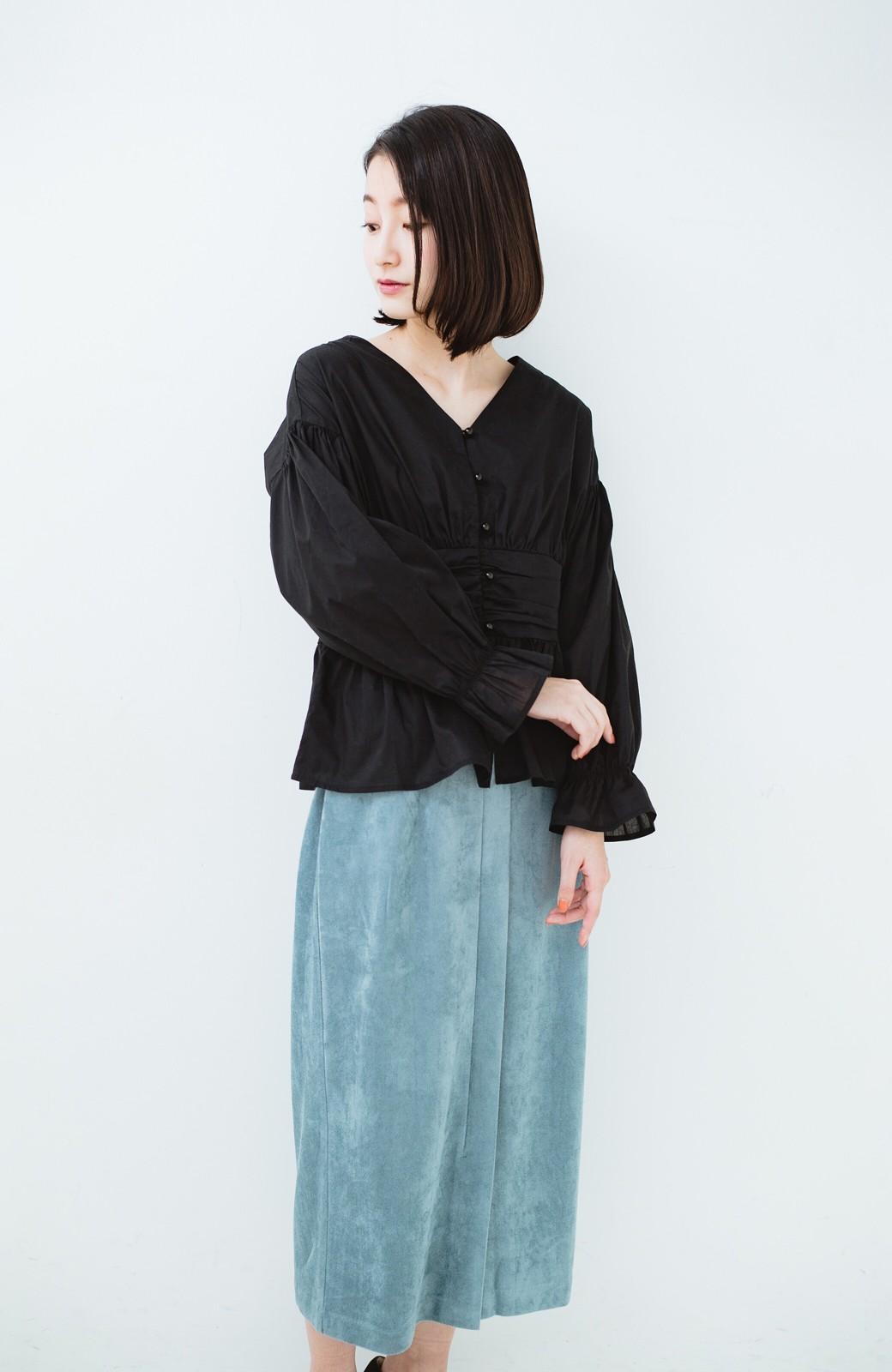 haco! 大人が安心して着られるタイトスカート by que made me <グレイッシュブルー>の商品写真19