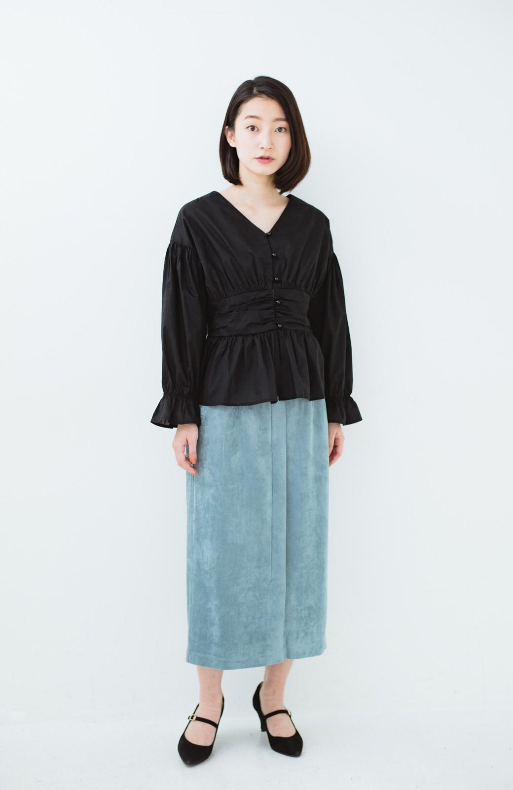 haco! 大人が安心して着られるタイトスカート by que made me <グレイッシュブルー>の商品写真11