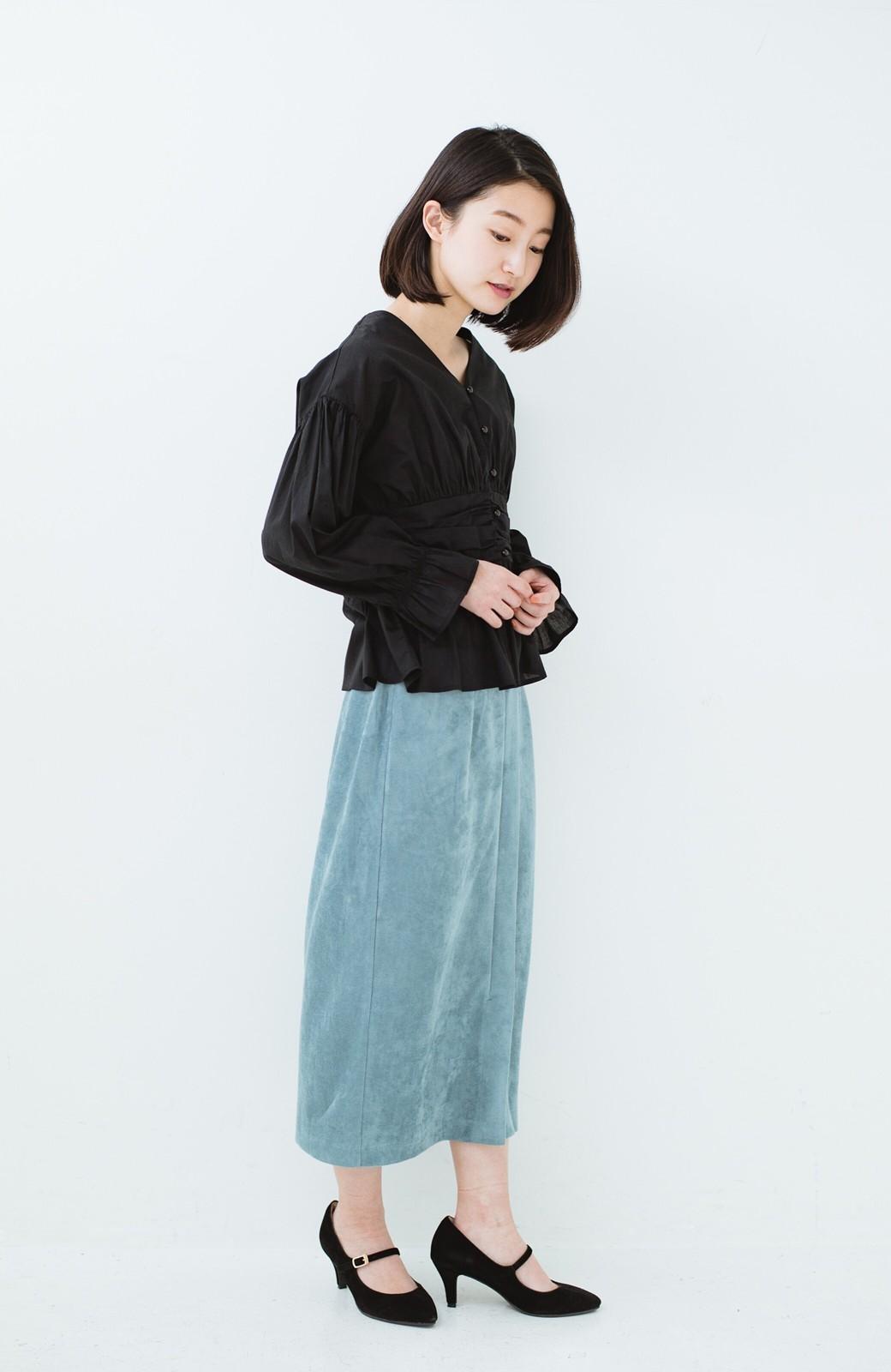 haco! 大人が安心して着られるタイトスカート by que made me <グレイッシュブルー>の商品写真14