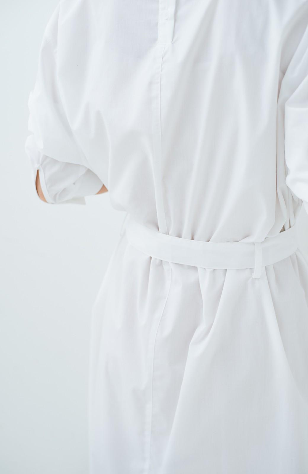 haco! 気持ちが凛と改まる リボン付きオーバーサイズシャツワンピース <ホワイト>の商品写真6