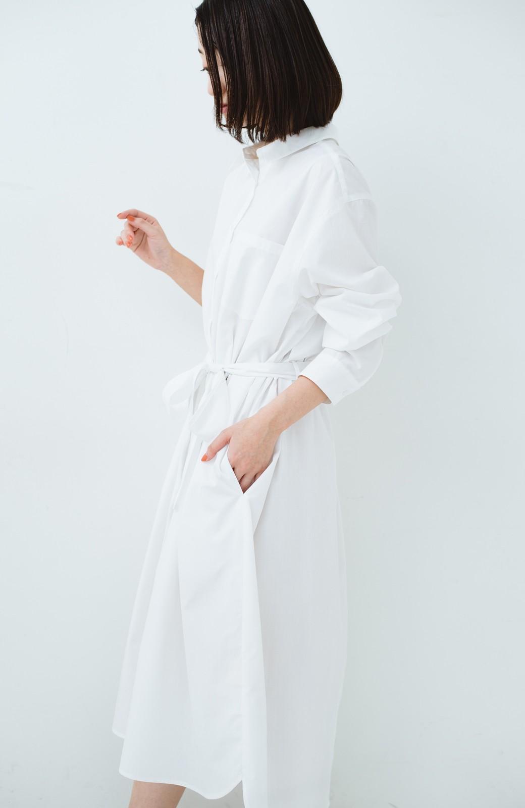 haco! 気持ちが凛と改まる リボン付きオーバーサイズシャツワンピース <ホワイト>の商品写真26