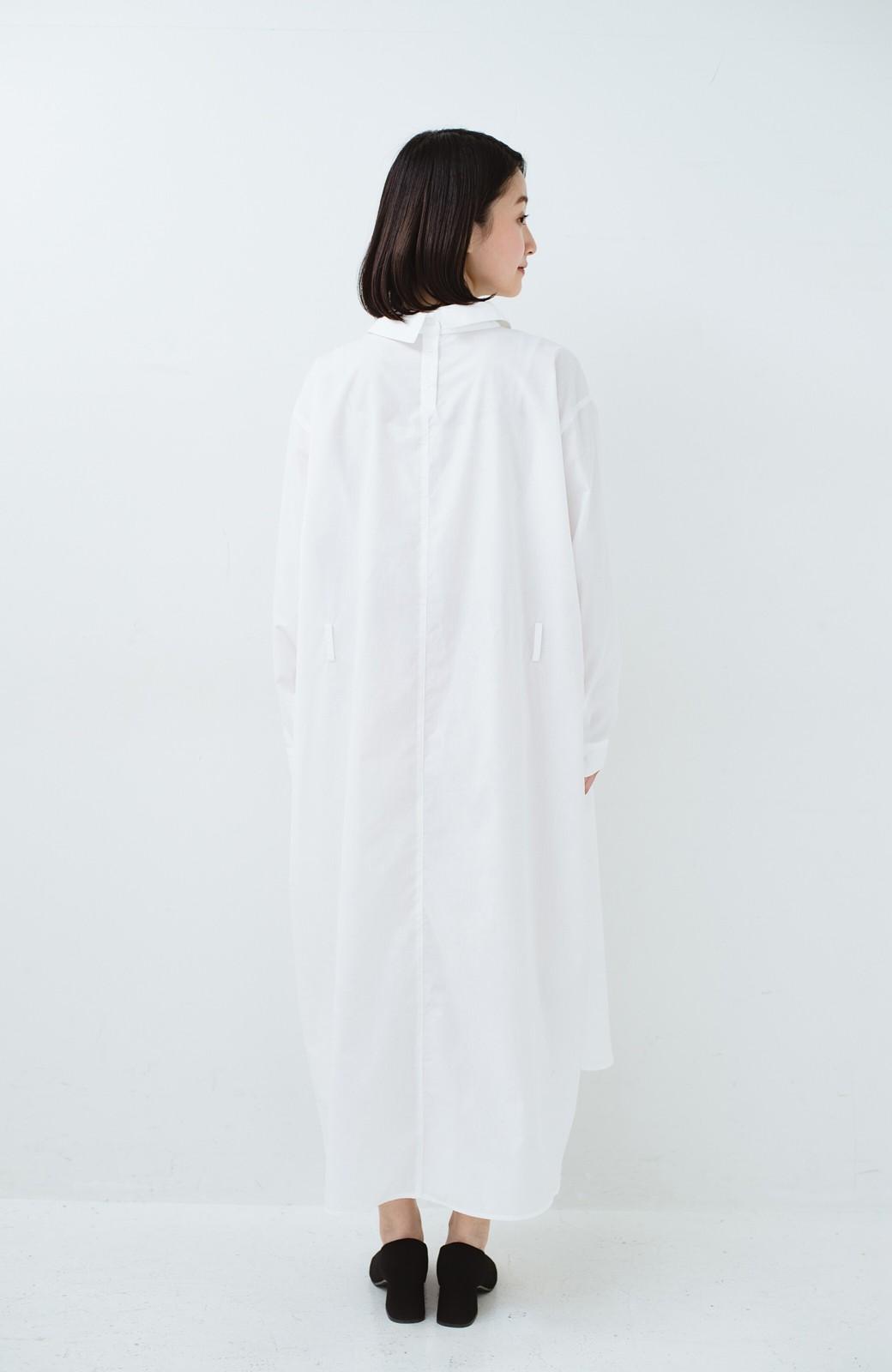 haco! 気持ちが凛と改まる リボン付きオーバーサイズシャツワンピース <ホワイト>の商品写真17