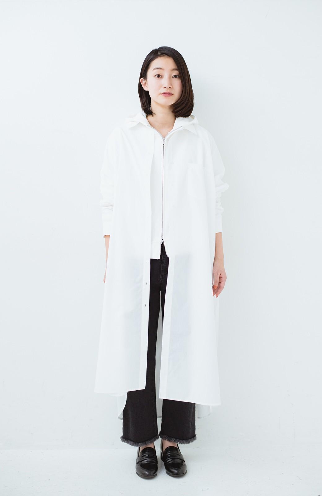 haco! 気持ちが凛と改まる リボン付きオーバーサイズシャツワンピース <ホワイト>の商品写真13