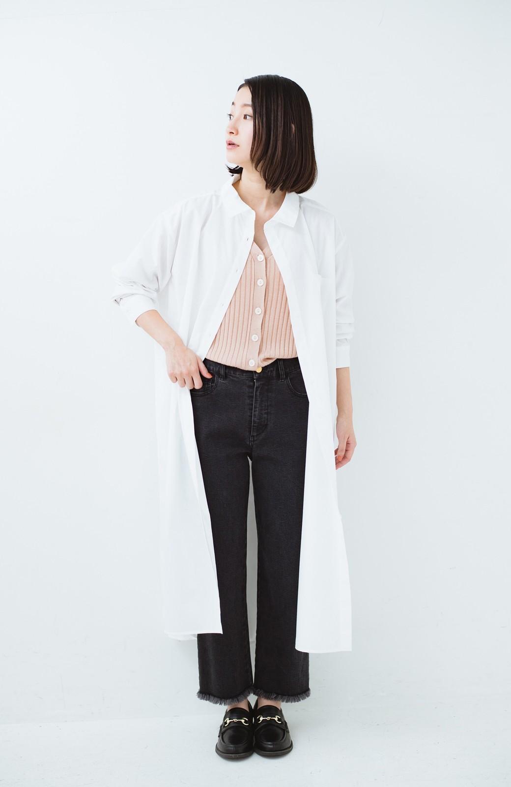 haco! 気持ちが凛と改まる リボン付きオーバーサイズシャツワンピース <ホワイト>の商品写真11