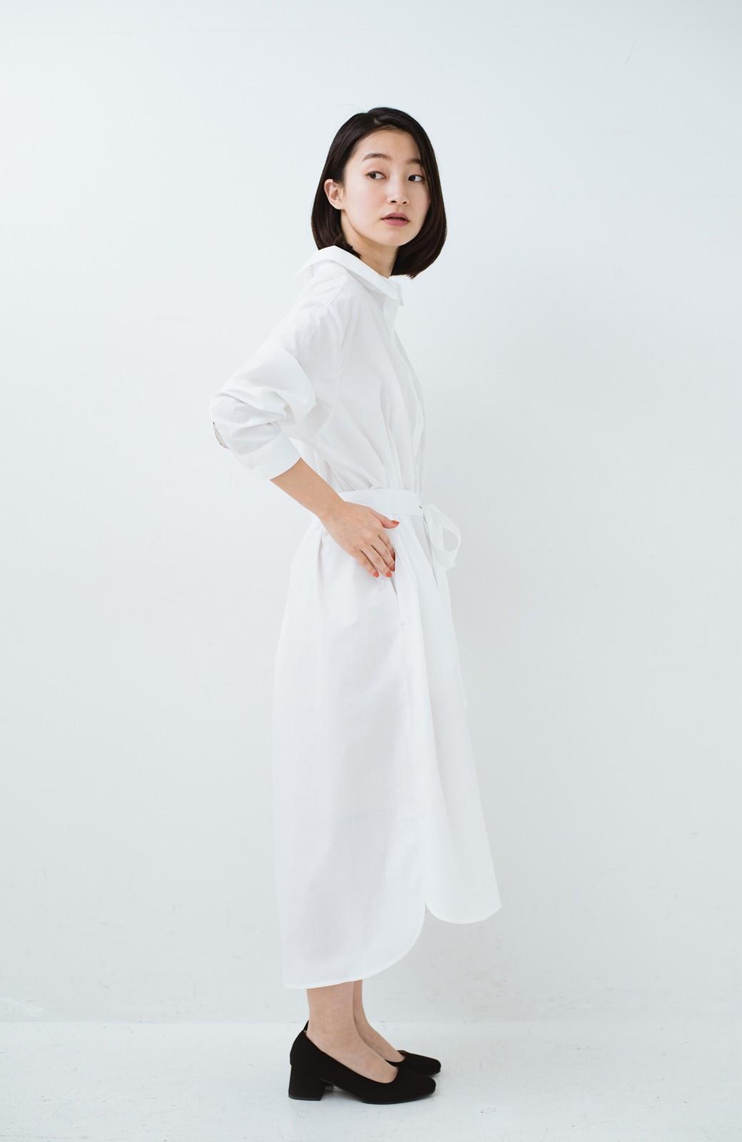 haco! 気持ちが凛と改まる リボン付きオーバーサイズシャツワンピース <ホワイト>の商品写真16