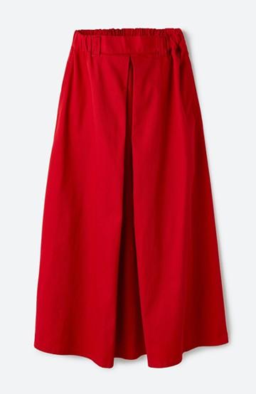 haco! ロングシーズン楽しめる タックボリュームのチノロングスカート <レッド>の商品写真