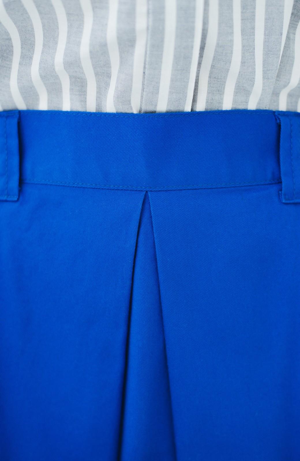 haco! 【今年も再販!】ロングシーズン楽しめる タックボリュームのチノロングスカート <ブルー>の商品写真8