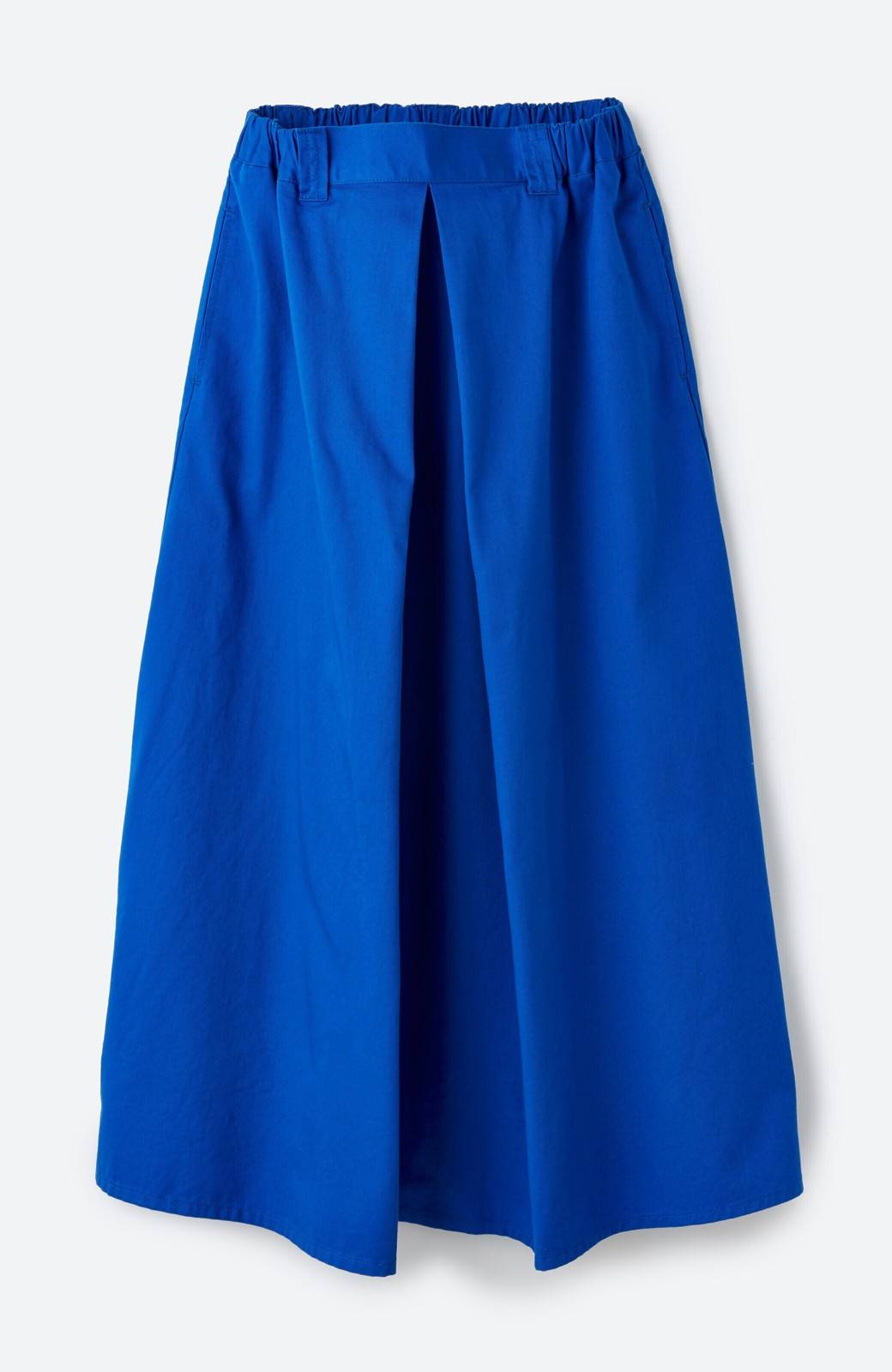 haco! 【今年も再販!】ロングシーズン楽しめる タックボリュームのチノロングスカート <ブルー>の商品写真2