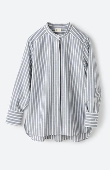 haco! 気持ちが凛と改まる スタンドカラーシャツ <ブルー系その他>の商品写真