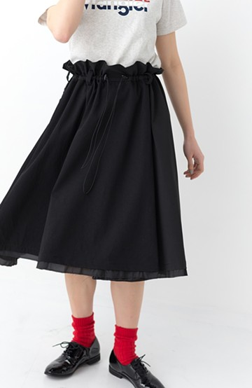 haco! F/CE.(エフシーイー)Nylon Chino Skirt <ブラック>の商品写真