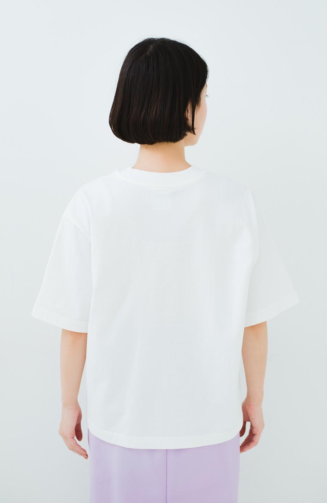 haco! Dickies 別注 ゆったり着られてちょうどいい ロゴプリントポケットTシャツ <ホワイト>の商品写真8