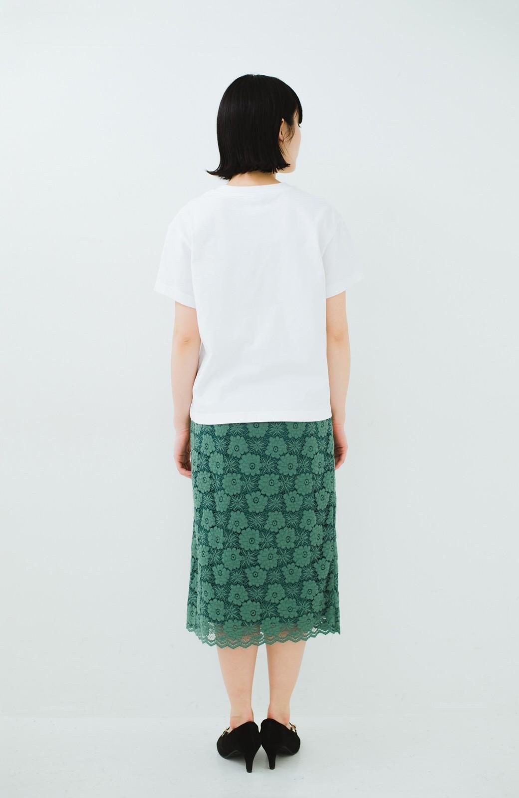 haco! Dickies 別注 ワイドボトムスと相性がいいボックスロゴTシャツ <ホワイト>の商品写真6