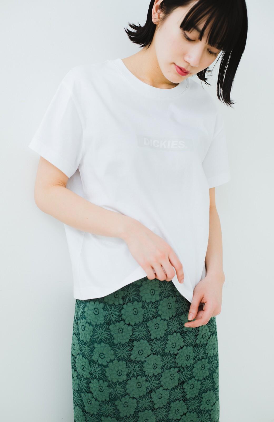 haco! Dickies 別注 ワイドボトムスと相性がいいボックスロゴTシャツ <ホワイト>の商品写真7
