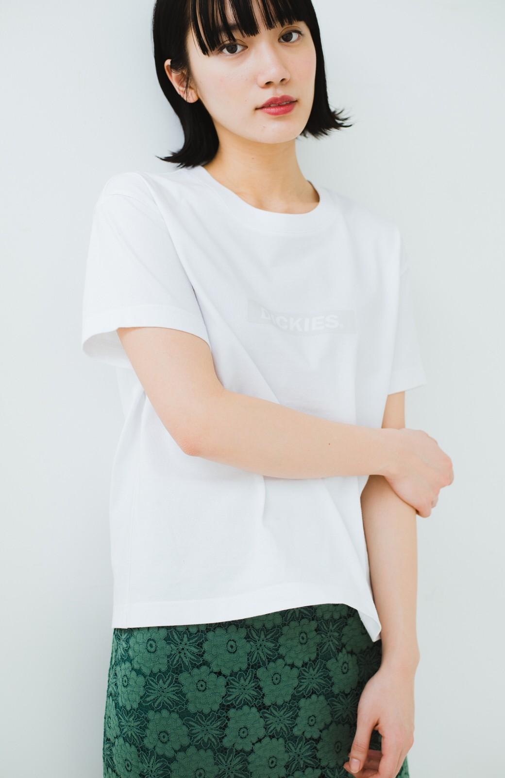 haco! Dickies 別注 ワイドボトムスと相性がいいボックスロゴTシャツ <ホワイト>の商品写真8