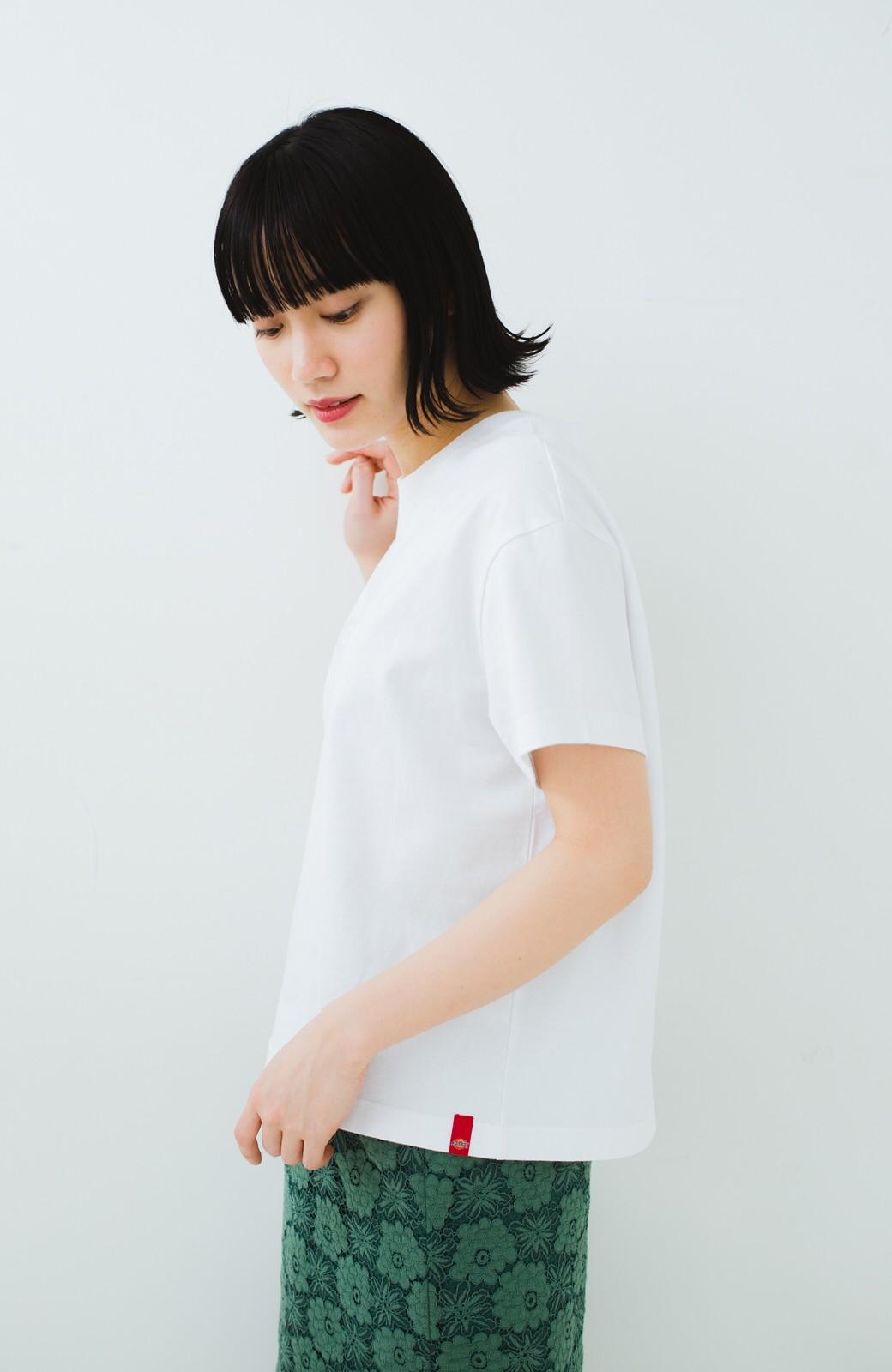 haco! Dickies 別注 ワイドボトムスと相性がいいボックスロゴTシャツ <ホワイト>の商品写真9