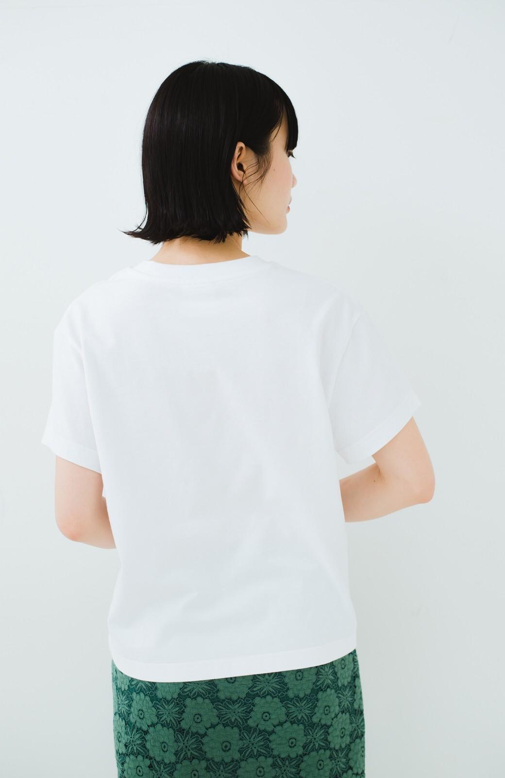 haco! Dickies 別注 ワイドボトムスと相性がいいボックスロゴTシャツ <ホワイト>の商品写真10