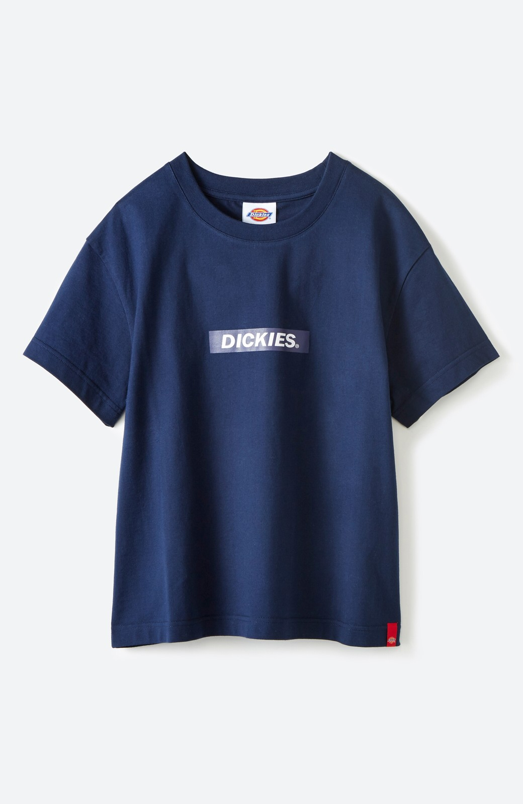 haco! Dickies 別注 ワイドボトムスと相性がいいボックスロゴTシャツ <ネイビー>の商品写真1