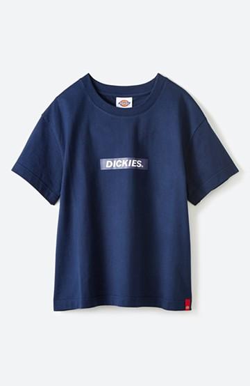 haco! Dickies 別注 ワイドボトムスと相性がいいボックスロゴTシャツ <ネイビー>の商品写真
