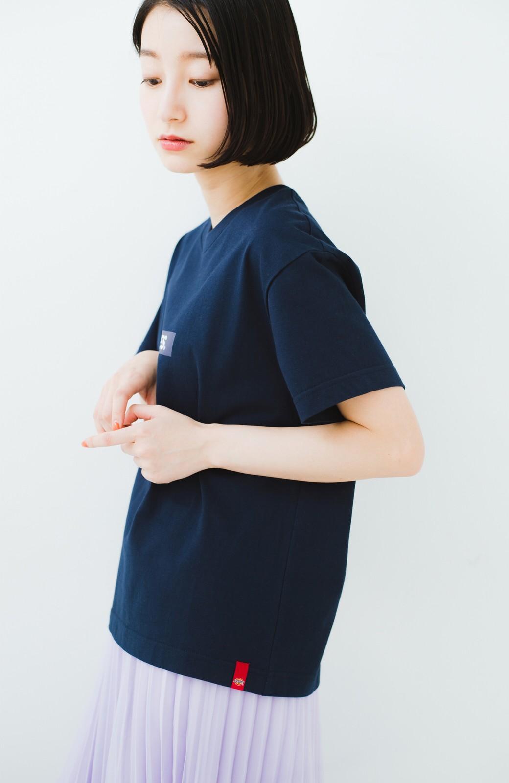 haco! Dickies 別注 ワイドボトムスと相性がいいボックスロゴTシャツ <ネイビー>の商品写真8