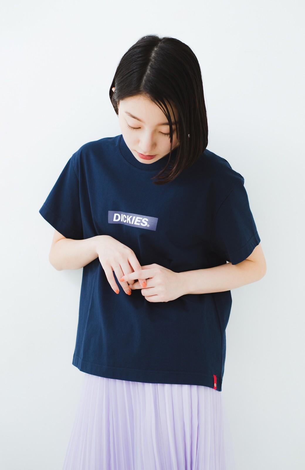 haco! Dickies 別注 ワイドボトムスと相性がいいボックスロゴTシャツ <ネイビー>の商品写真9