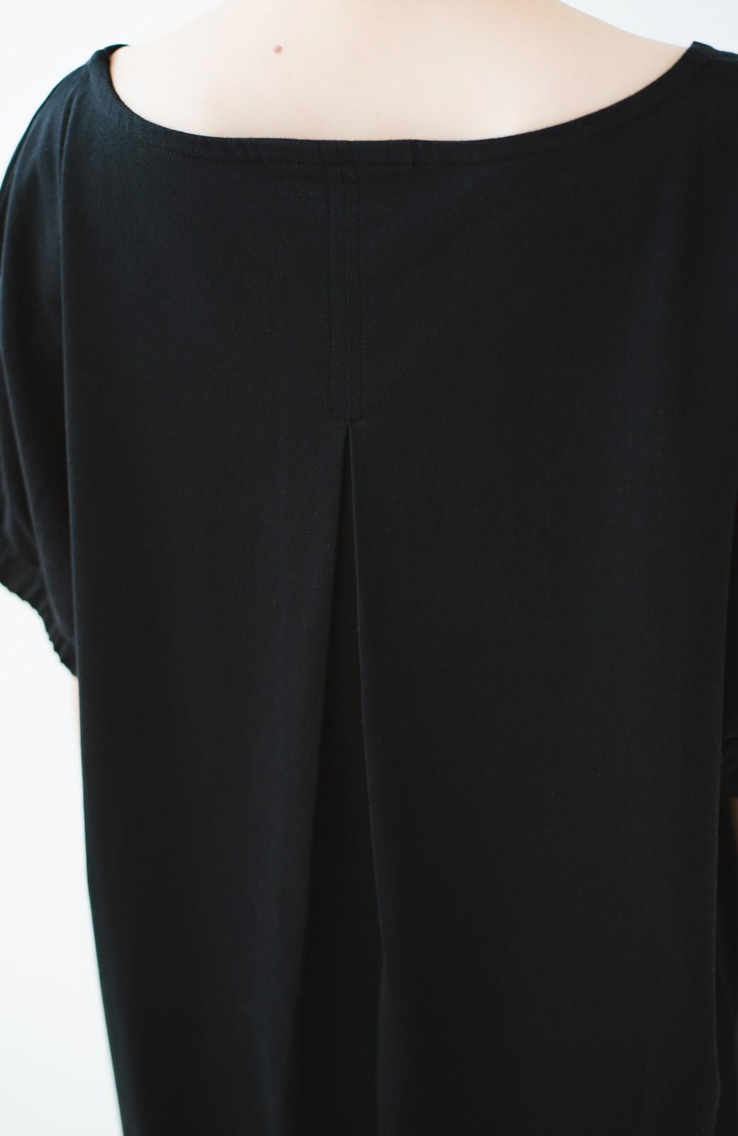 haco! Dickies 別注 ぱふっと袖のワッペン付きカットソーワンピース <ブラック>の商品写真3