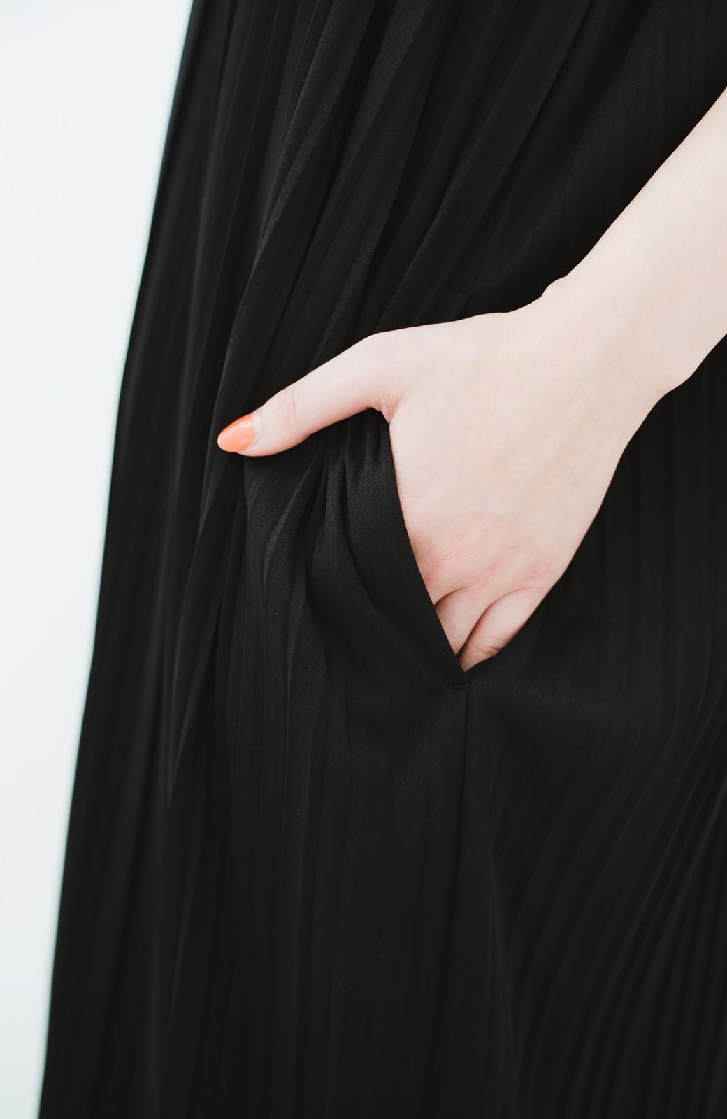 haco! 旅行にも便利なプリーツデザインオールインワン <ブラック>の商品写真4