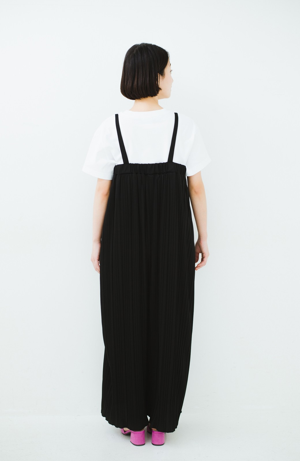 haco! 旅行にも便利なプリーツデザインオールインワン <ブラック>の商品写真12