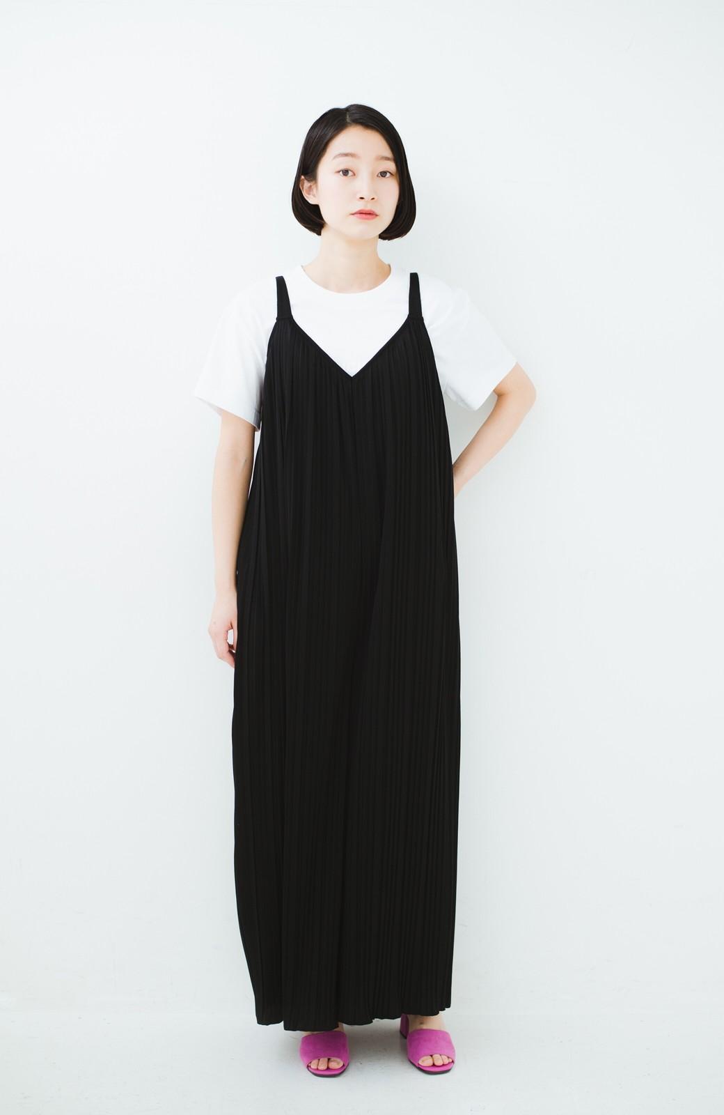 haco! 旅行にも便利なプリーツデザインオールインワン <ブラック>の商品写真8