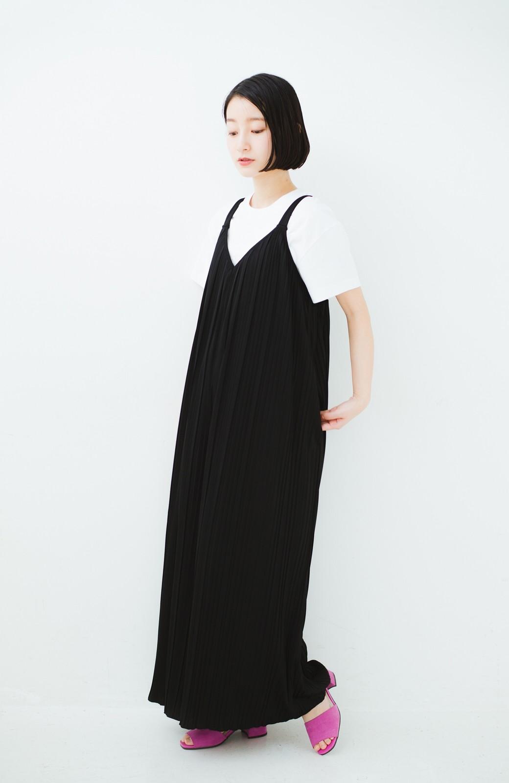 haco! 旅行にも便利なプリーツデザインオールインワン <ブラック>の商品写真9