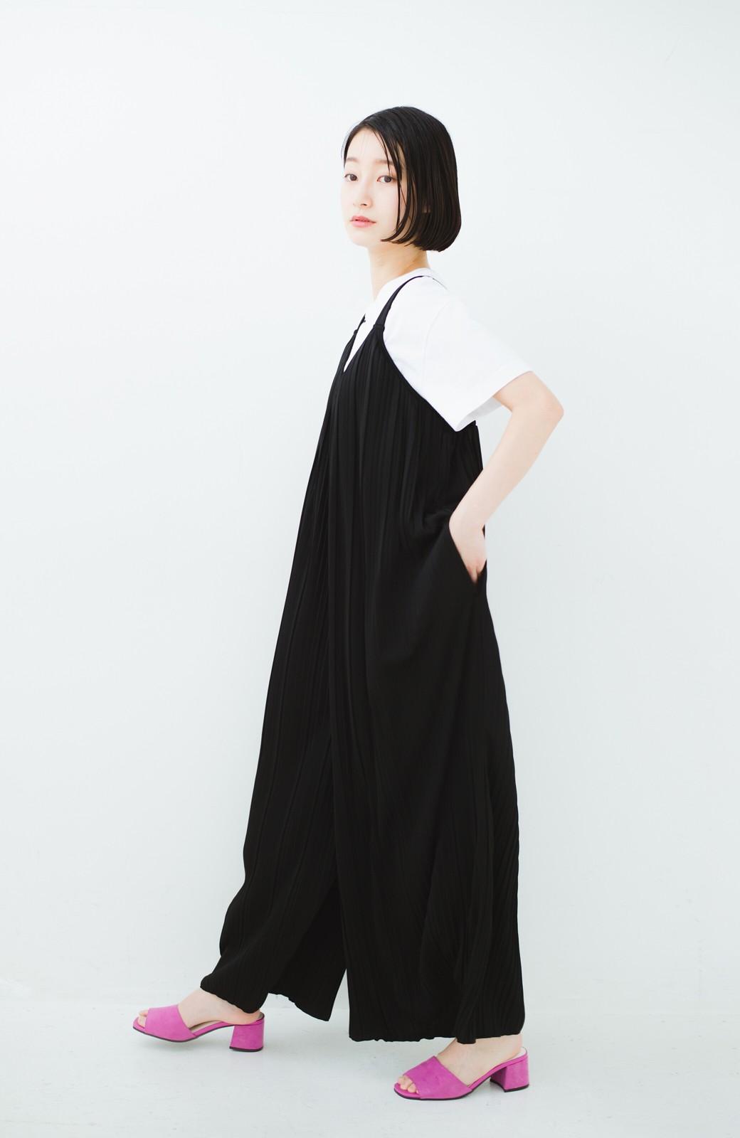 haco! 旅行にも便利なプリーツデザインオールインワン <ブラック>の商品写真11