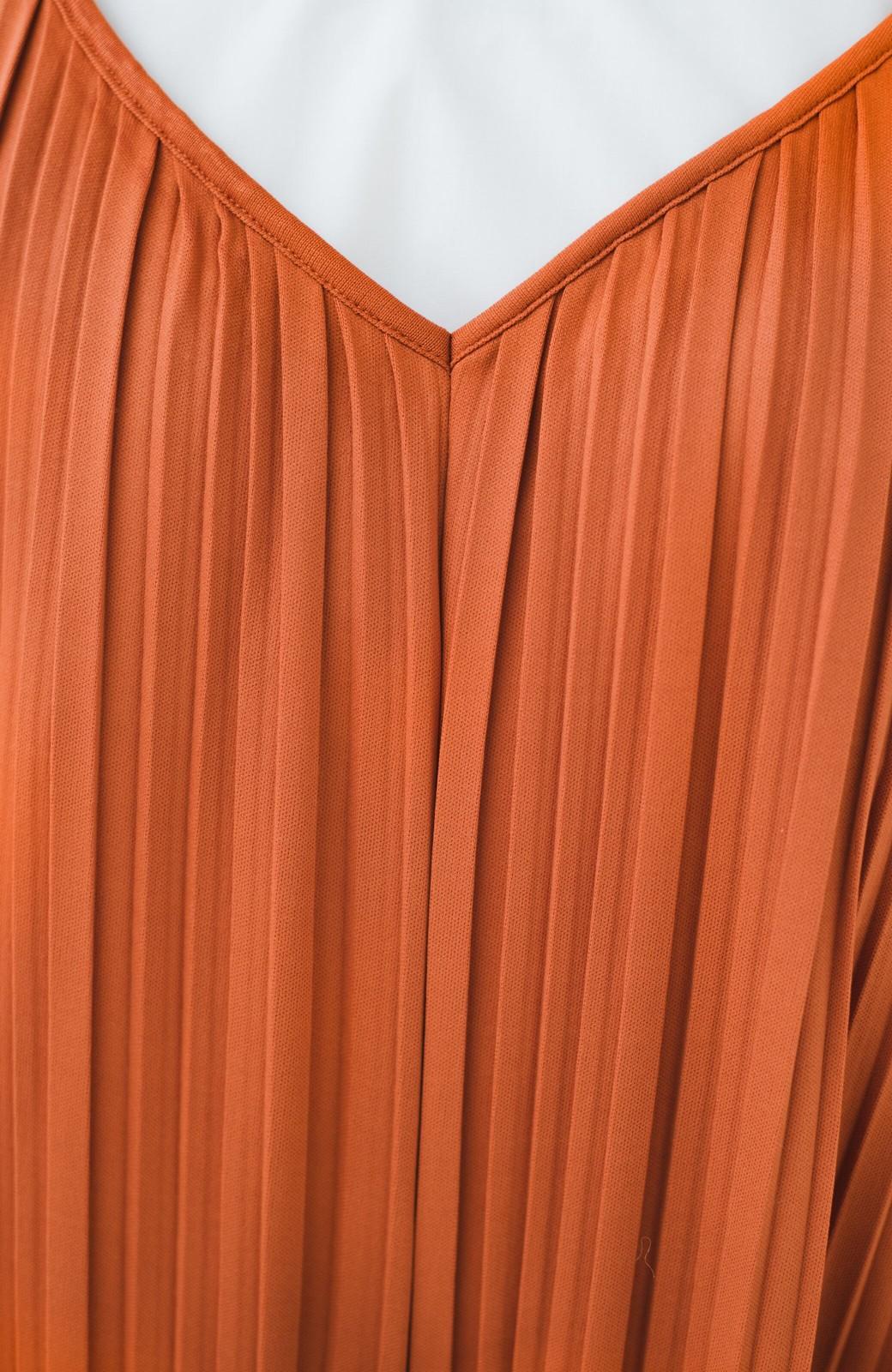 haco! 旅行にも便利なプリーツデザインオールインワン <オレンジ>の商品写真4