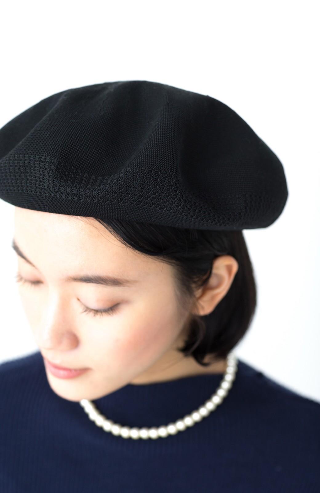 haco! ハイゲージニットベレー帽 <ブラック>の商品写真4